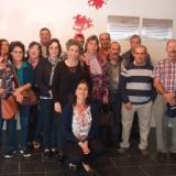 Grupo de formandos de cursos do IEFP no Museu Terras de Besteiros